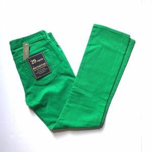 J. Crew Pants - NWT J. Crew Green Matchstick Jeans sz 29R